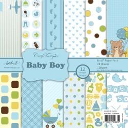 CrafTangles Scrapbook Paper Pack - Baby Boy (6x6)