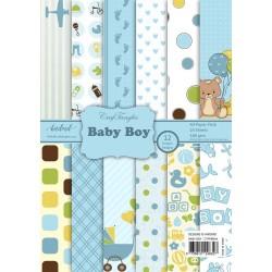 CrafTangles Scrapbook Paper Pack - Baby Boy (A4)