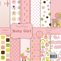 "CrafTangles Scrapbook Paper Pack - Baby Girl (6""x6"")"