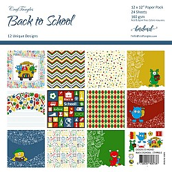 "CrafTangles Scrapbook Paper Pack - Back to School (12""x12"")"