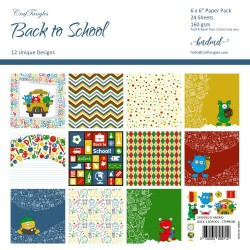 "CrafTangles Scrapbook Paper Pack - Back to School (6""x6"")"