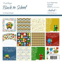 "CrafTangles Scrapbook Paper Pack - Back to School (6""x6"")"