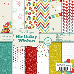 "CrafTangles Scrapbook Paper Pack - Birthday Wishes (12""x12"")"