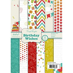 CrafTangles Scrapbook Paper Pack - Birthday Wishes (A4)