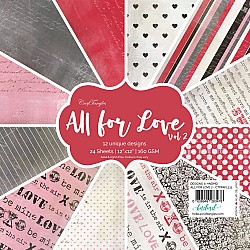 "CrafTangles Scrapbook Paper Pack - All for Love Vol. 2 (12""x12"")"