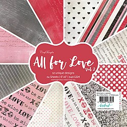"CrafTangles Scrapbook Paper Pack - All for Love Vol. 2 (6""x6"")"