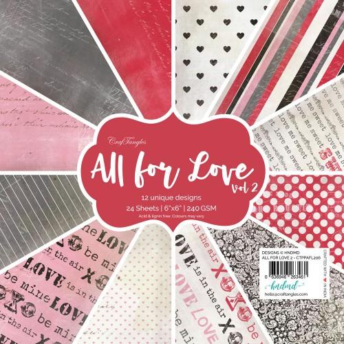 "CrafTangles Scrapbook Paper Pack - All for Love Vol. 2 (6""x6"")"