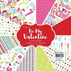 "CrafTangles Scrapbook Paper Pack - Be My Valentine (12""x12"")"