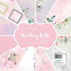 "CrafTangles Scrapbook Paper Pack - Wedding Bells (12""x12"")"