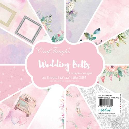 CrafTangles Scrapbook Paper Pack - Wedding Bells (12x12)