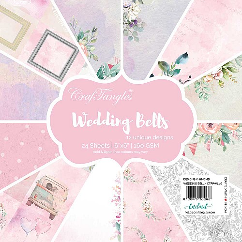 "CrafTangles Scrapbook Paper Pack - Wedding Bells (6""x6"")"