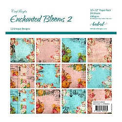"CrafTangles Scrapbook Paper Pack - Enchanted Blooms 2 (12""x12"")"