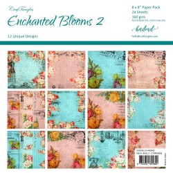 "CrafTangles Scrapbook Paper Pack - Enchanted Blooms 2 (8""x8"")"