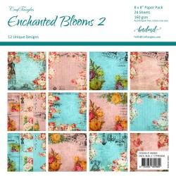 "CrafTangles Scrapbook Paper Pack - Enchanted Blooms 2 (8""x8"")"