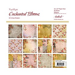 "CrafTangles Scrapbook Paper Pack - Enchanted Blooms (12""x12"")"