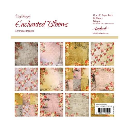 CrafTangles Scrapbook Paper Pack - Enchanted Blooms (12x12)