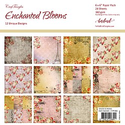 "CrafTangles Scrapbook Paper Pack - Enchanted Blooms (6""x6"")"
