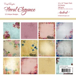 "CrafTangles Scrapbook Paper Pack - Floral Elegance (12""x12"")"