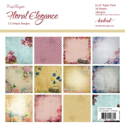 "CrafTangles Scrapbook Paper Pack - Floral Elegance (6""x6"")"