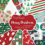 "CrafTangles Scrapbook Paper Pack - Merry Christmas (12""x12"")"