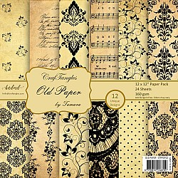 "CrafTangles Scrapbook Paper Pack - Old Paper (12""x12"")"