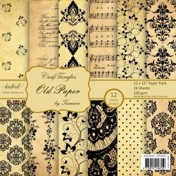 "CrafTangles Scrapbook Paper Pack - Old Paper (12""x12"")"