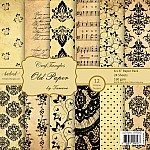 "CrafTangles Scrapbook Paper Pack - Old Paper (6""x6"")"