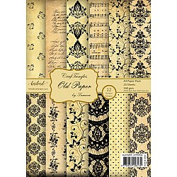 CrafTangles Scrapbook Paper Pack - Old Paper (A4)