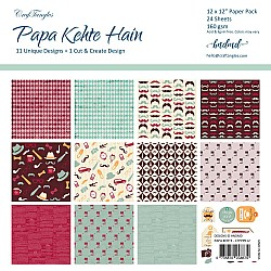 "CrafTangles Scrapbook Paper Pack - Papa Kehte Hain (For Dad) (12""x12"")"