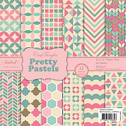 "CrafTangles Scrapbook Paper Pack - Pretty Pastels (12""x12"")"