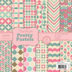"CrafTangles Scrapbook Paper Pack - Pretty Pastels (12""x12"")"