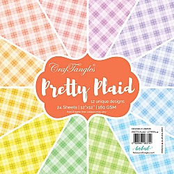 "CrafTangles Scrapbook Paper Pack - Pretty Plaid (12""x12"")"