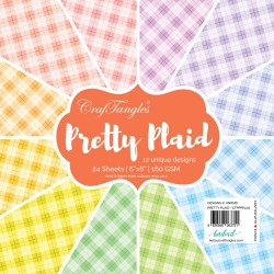 "CrafTangles Scrapbook Paper Pack - Pretty Plaid (6""x6"")"