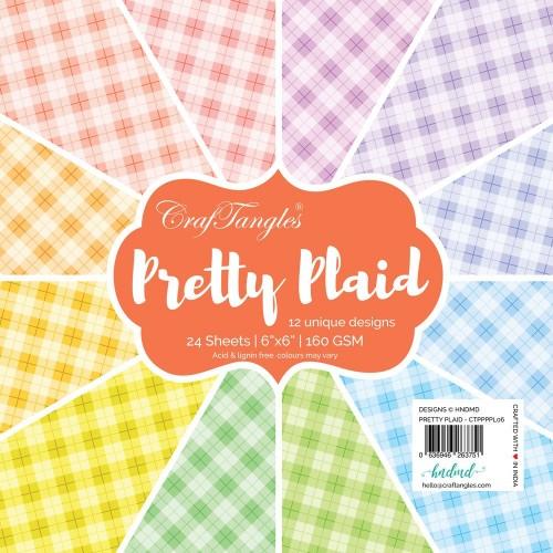 """CrafTangles Scrapbook Paper Pack - Pretty Plaid (6""""x6"""")"""