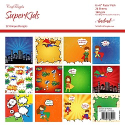 "CrafTangles Scrapbook Paper Pack - SuperKids (6""x6"")"