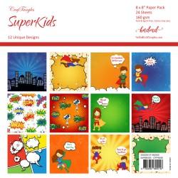 "CrafTangles Scrapbook Paper Pack - SuperKids (8""x8"")"