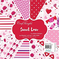 "CrafTangles Scrapbook Paper Pack - Sweet Love (12""x12"")"
