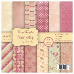 """CrafTangles Scrapbook Paper Pack - Tender Feeling (6""""x6"""")"""