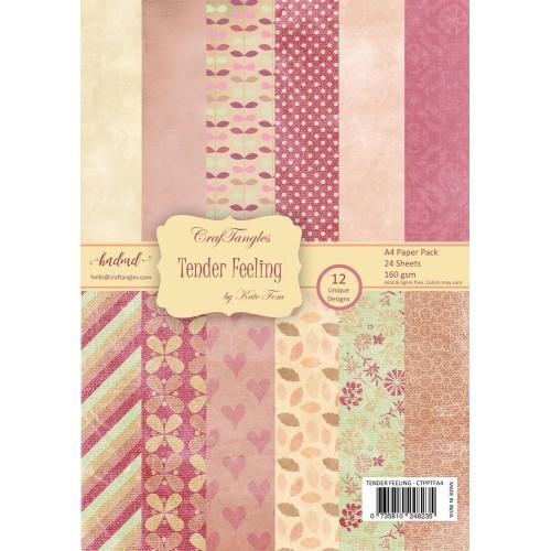 CrafTangles Scrapbook Paper Pack - Tender Feeling (A4)