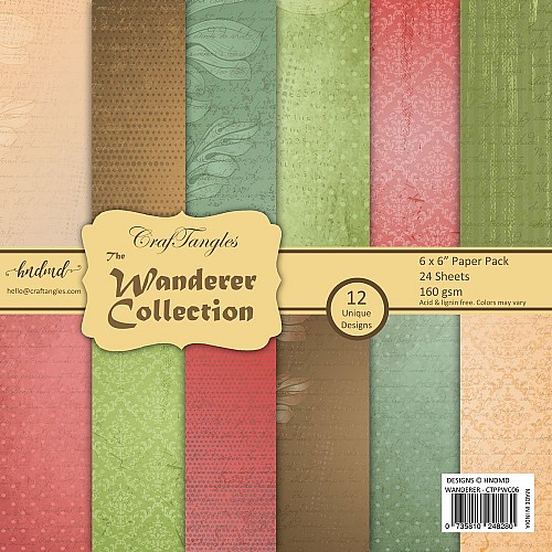 """CrafTangles Scrapbook Paper Pack - The Wanderer Collection (6""""x6"""")"""
