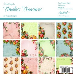 "CrafTangles Scrapbook Paper Pack - Timeless Treasures (6""x6"")"