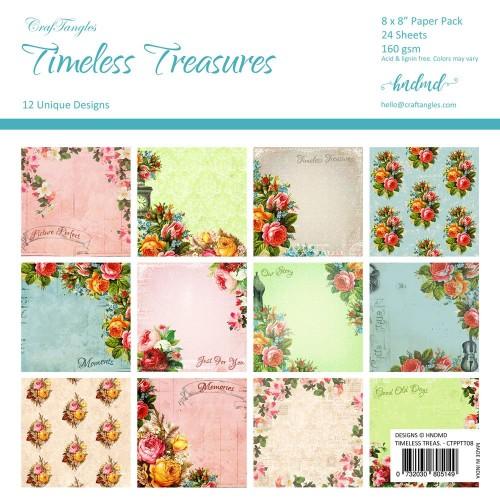 CrafTangles Scrapbook Paper Pack - Timeless Treasures (8x8)