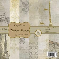 "CrafTangles Scrapbook Paper Pack - Vintage Grunge (12""x12"")"