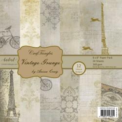 "CrafTangles Scrapbook Paper Pack - Vintage Grunge (8""x8"")"