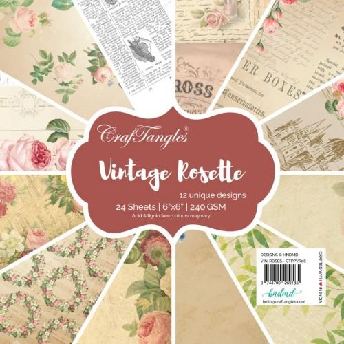 CrafTangles Scrapbook Paper Pack - Vintage Rosette (6x6)