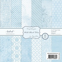 "CrafTangles Scrapbook Paper Pack - Wild About Blue (6""x6"")"