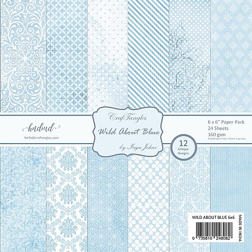 CrafTangles Scrapbook Paper Pack - Wild About Blue (6x6)