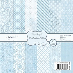 "CrafTangles Scrapbook Paper Pack - Wild About Blue (8""x8"")"