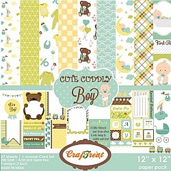 CrafTreat Paper Pack - Cute Cuddly Boy 12x12