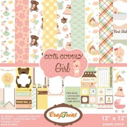 CrafTreat Paper Pack - Cute Cuddly Girl 12x12